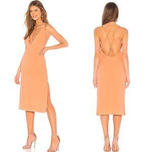 Lovers + Friends Nikola Midi Dress Apricot Sz S